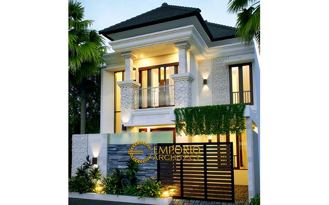 Desain Rumah Villa Bali 2 Lantai Bapak Indro di  Denpasar, Bali