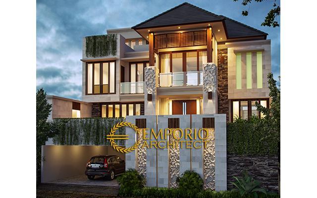Desain Rumah Villa Bali 3 Lantai Bapak Irvan di  Bintaro, Tangerang