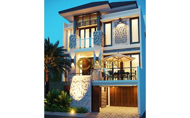 Desain Rumah Villa Bali 3 Lantai Bapak Joko di  Jakarta