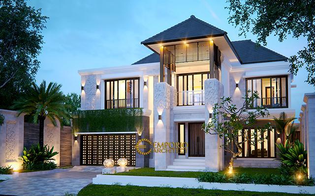 Desain Rumah Villa Bali 2 Lantai Bapak Jos di  Pekanbaru