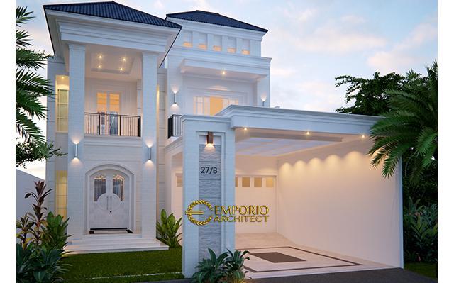Desain Rumah Classic 2 Lantai Ibu NA di  Jakarta