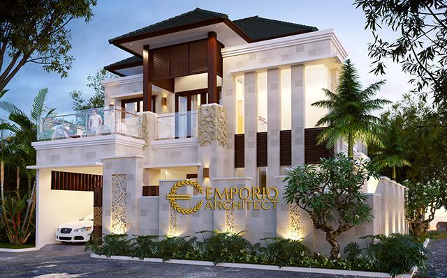 Desain Rumah Villa Bali 2 Lantai Bapak Jose di  Bekasi, Jawa Barat
