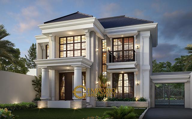 Desain Rumah Classic 2 Lantai Bapak Kusno di  Depok, Jawa Barat