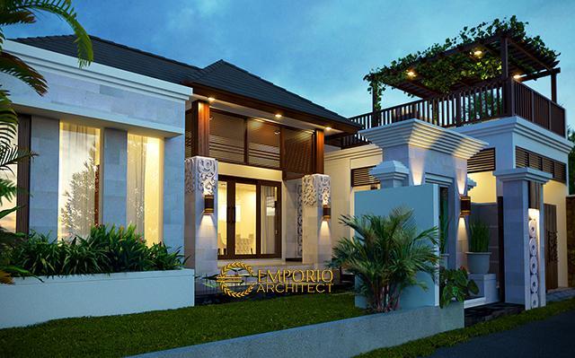 Desain Rumah Villa Bali 1 Lantai Bapak Krisna di  Kerobokan, Badung