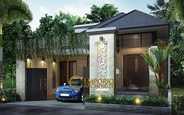 Desain Rumah Villa Bali 1 Lantai Bapak Kurnia di  Depok, Jawa Barat