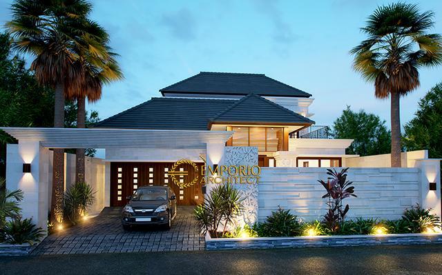 Desain Rumah Villa Bali 2 Lantai Bapak Kustanto di  Jakarta