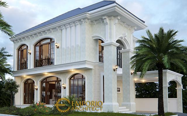 Desain Rumah Hook Mediteran 2 Lantai Bapak Maradona di  Tangerang