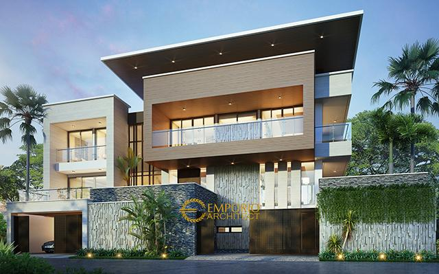 Mr. Mega Modern House 2 Floors Design - Bandung