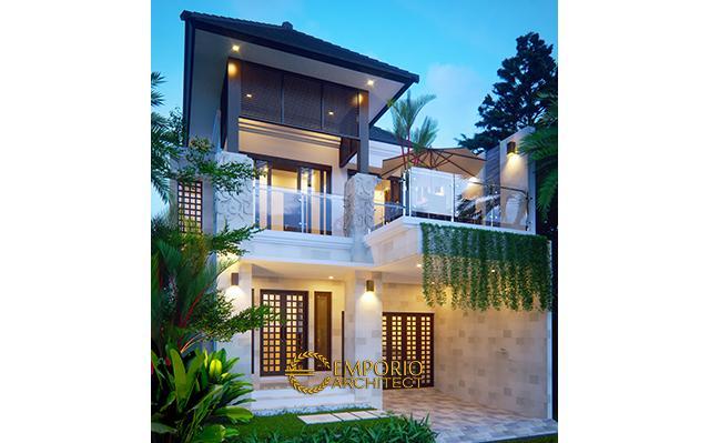 Desain Rumah Villa Bali 2 Lantai Bapak Michael di  Yogyakarta