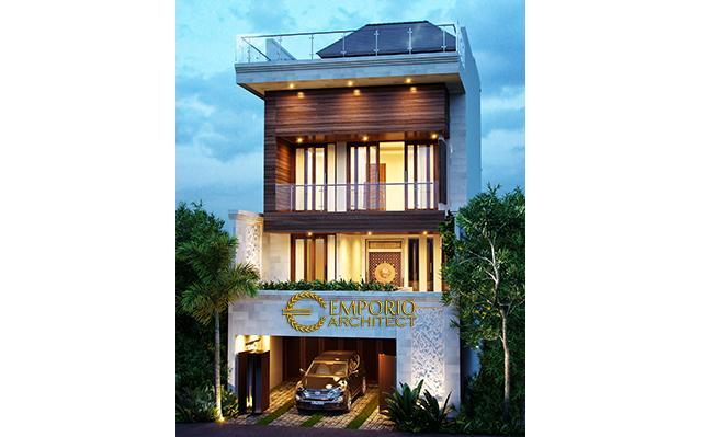 Desain Rumah Villa Bali 3 Lantai Bapak Noga di  Jakarta