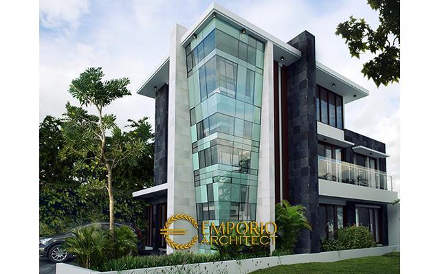 Desain Rumah Modern 3 Lantai Bapak Rado di  Jakarta