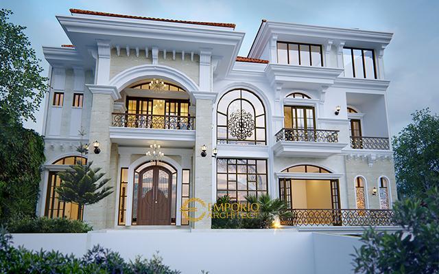 Desain Rumah Mediteran 3 Lantai Bapak Sanjay di  Pejaten, Jakarta Selatan