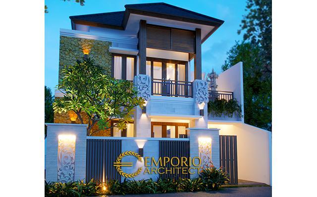 Desain Rumah Villa Bali 2 Lantai Bapak Sastrawan di  Denpasar, Bali