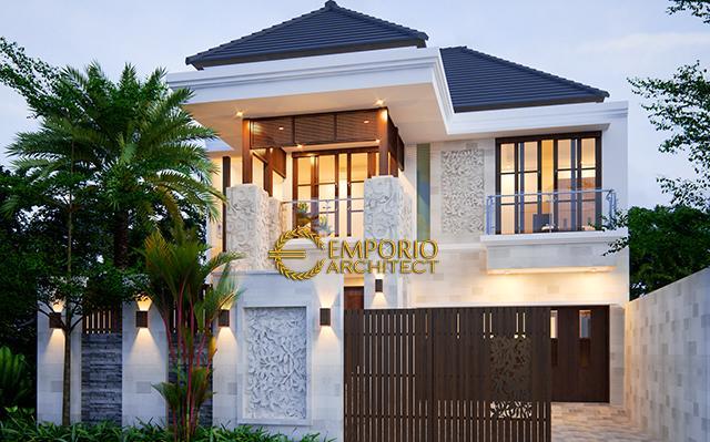 Desain Rumah Villa Bali 2 Lantai Bapak Soeharmin II di  Semarang, Jawa Tengah