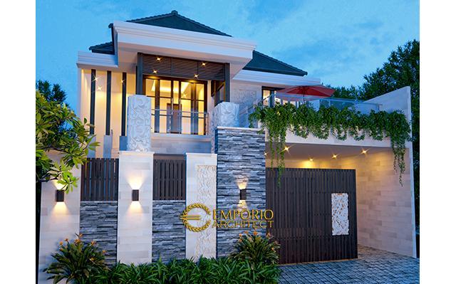 Desain Rumah Villa Bali 2 Lantai Bapak Soeharmin di  Semarang, Jawa Tengah
