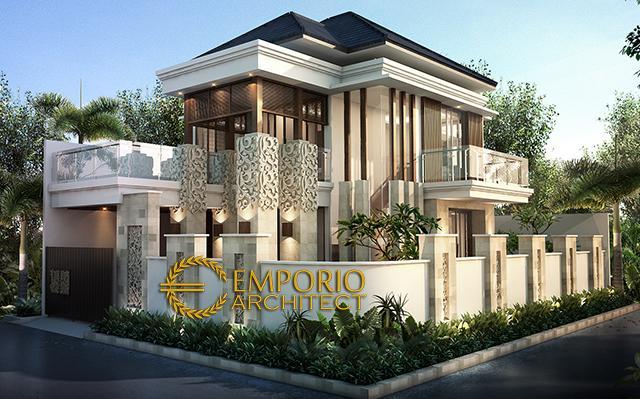 Desain Rumah Hook Villa Bali 2 Lantai Bapak Syafari di  Jakarta