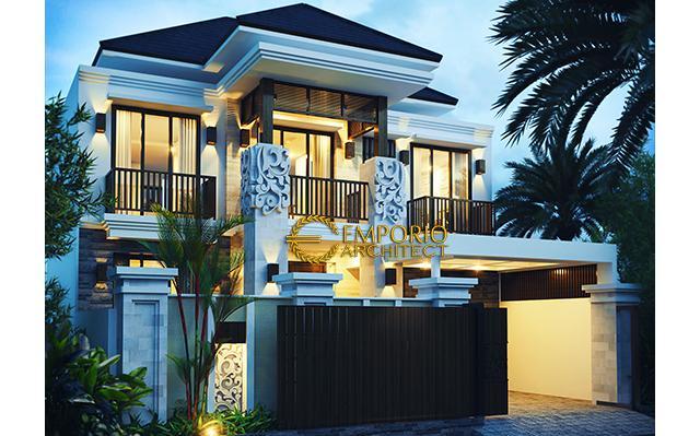 Desain Rumah Villa Bali 2 Lantai Bapak Tony di  Jakarta