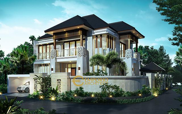 Mr. Tony Villa Bali House 2 Floors Design - Makassar
