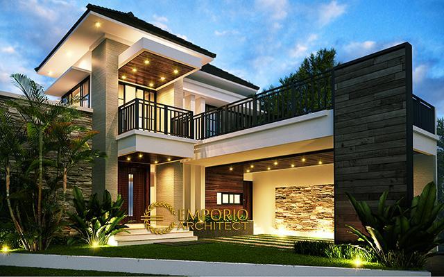Desain Rumah Modern 2 Lantai Bapak Toto di  Cibubur, Jakarta
