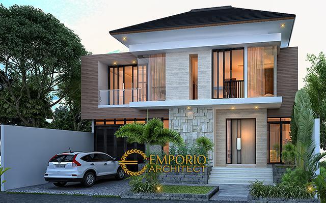 Desain Rumah Modern 2 Lantai Bapak Toto di  Kebayoran Baru, Jakarta Selatan