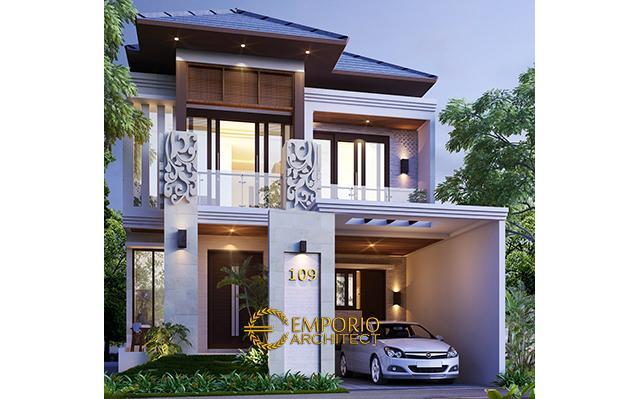 Desain Rumah Villa Bali 2 Lantai Bapak Visnu di  Cibubur, Jakarta Timur