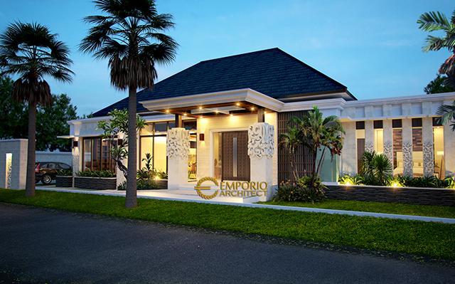 Desain Rumah Villa Bali 1 Lantai Bapak Wiantono di  Bekasi