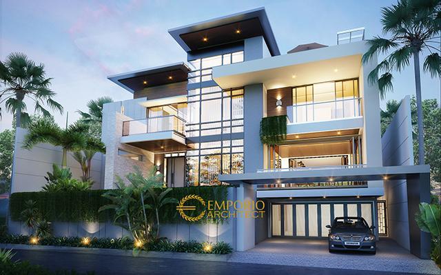 Desain Rumah Modern 4 Lantai Bapak Willy di  Dago Pakar, Bandung