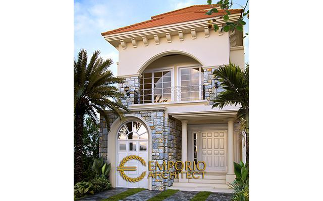 Desain Rumah Mediteran 2 Lantai Bapak Zulfikar Aditya di  Jakarta