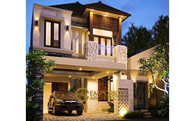 Desain Rumah Villa Bali 2 Lantai Ibu Ita di  Jakarta