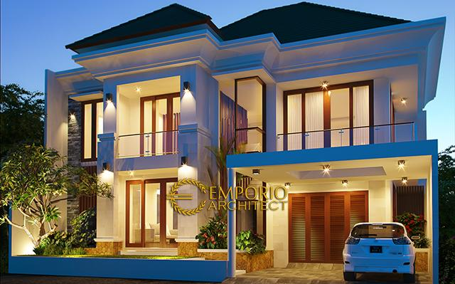 Desain Rumah Villa Bali 2 Lantai Ibu Anggi di  Cirebon