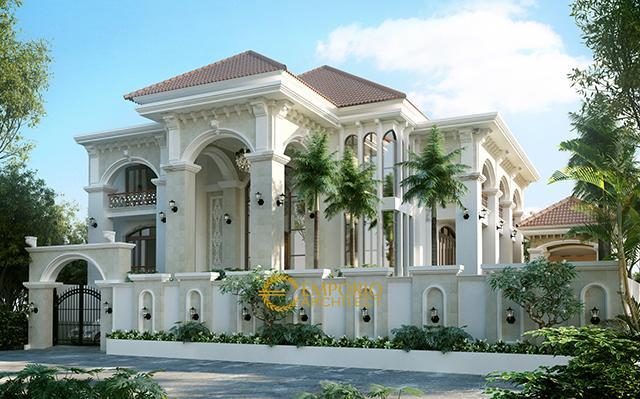 Desain Rumah Mediteran 2 Lantai Ibu Atik di  Jakarta