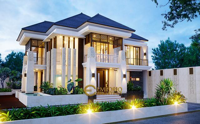Desain Rumah Villa Bali 2 Lantai Ibu Dewi di  Jakarta Selatan