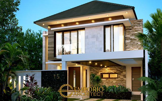 Desain Rumah Modern 2 Lantai Ibu Ella di  Jakarta