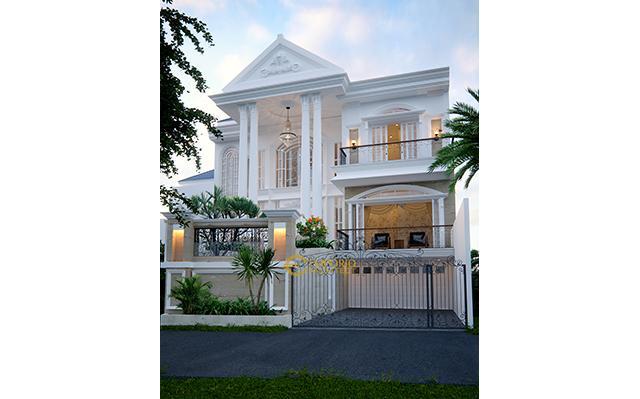 Desain Rumah Classic 2 Lantai Ibu Endang di  Cibubur, Jakarta