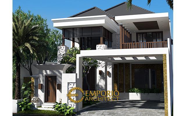 Desain Rumah Villa Bali 2 Lantai Ibu Epril di  Jakarta