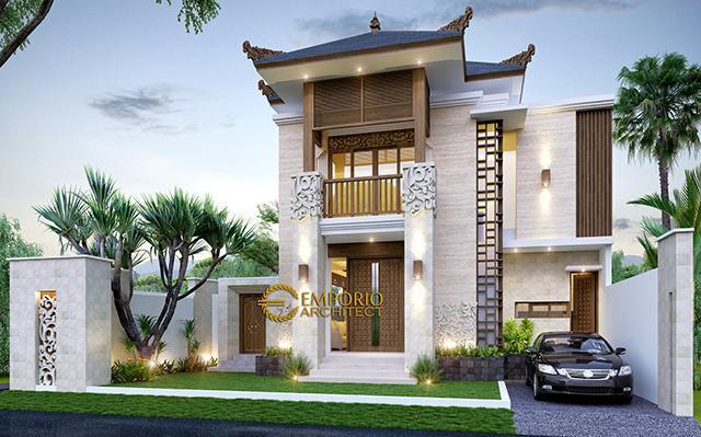 Desain Rumah Villa Bali 2 Lantai Ibu Fitri di  Bandung