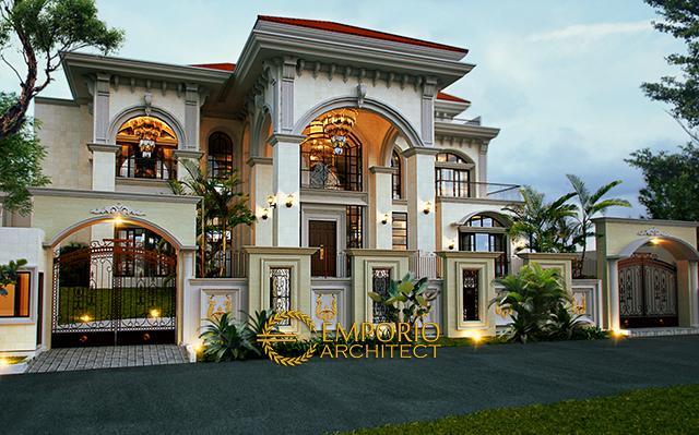 Desain Rumah Mediteran 2 Lantai Ibu Hapsari di  Cibubur, Jakarta Timur