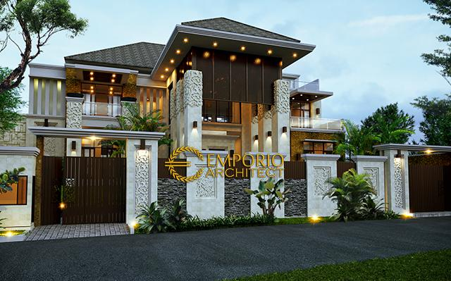 Mrs. Hapsari II Villa Bali House 2 Floors Design - Cibubur, Jakarta Timur