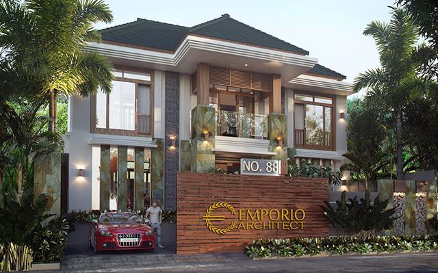 Desain Rumah Villa Bali 2 Lantai Ibu Heny di  Kalimantan