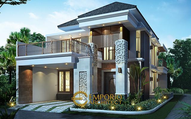 Desain Rumah Hook Villa Bali 2 Lantai Ibu Imelda di  Jakarta