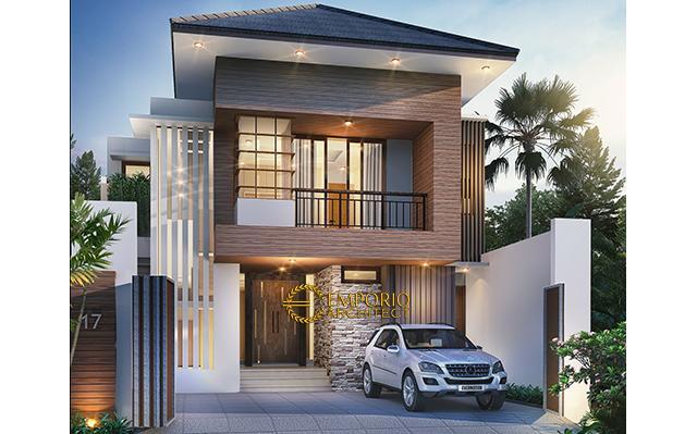 Desain Rumah Modern 2 Lantai Ibu Ira di  Jakarta
