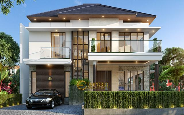 Desain Rumah Hook Modern 2 Lantai Ibu Ivana  di  BSD City, Tangerang Selatan