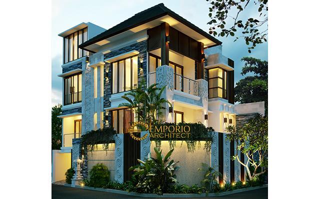 Desain Rumah Villa Bali 3 Lantai Ibu Ketut Nuriati di  Denpasar, Bali