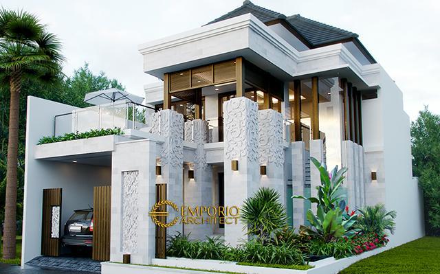Desain Rumah Villa Bali 2 Lantai Ibu Khrisna di  Nusa Dua, Bali