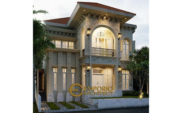 Desain Rumah Mediteran 2 Lantai Ibu Kiki di  Jakarta