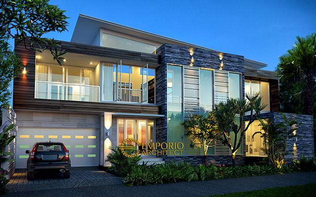 Mrs. Lily Modern House 2 Floors Design - Aceh