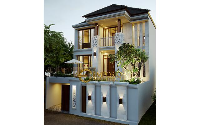 Desain Rumah Villa Bali 3 Lantai Ibu Lusiana di  Jakarta