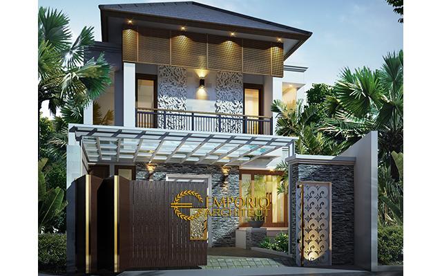Desain Rumah Villa Bali 2 Lantai Ibu Meldi di  Tangerang, Banten