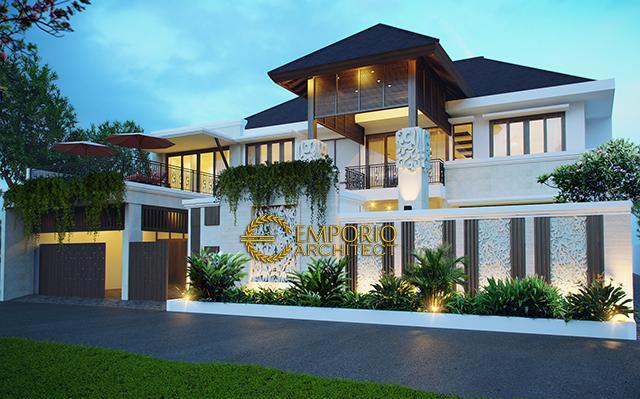 Desain Rumah Villa Bali 2 Lantai Ibu Niki Umar di  Bintaro, Jakarta