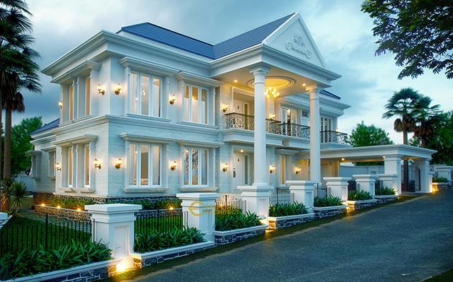 Desain Rumah Classic 2 Lantai Ibu Richard di  Bogor, Jawa Barat